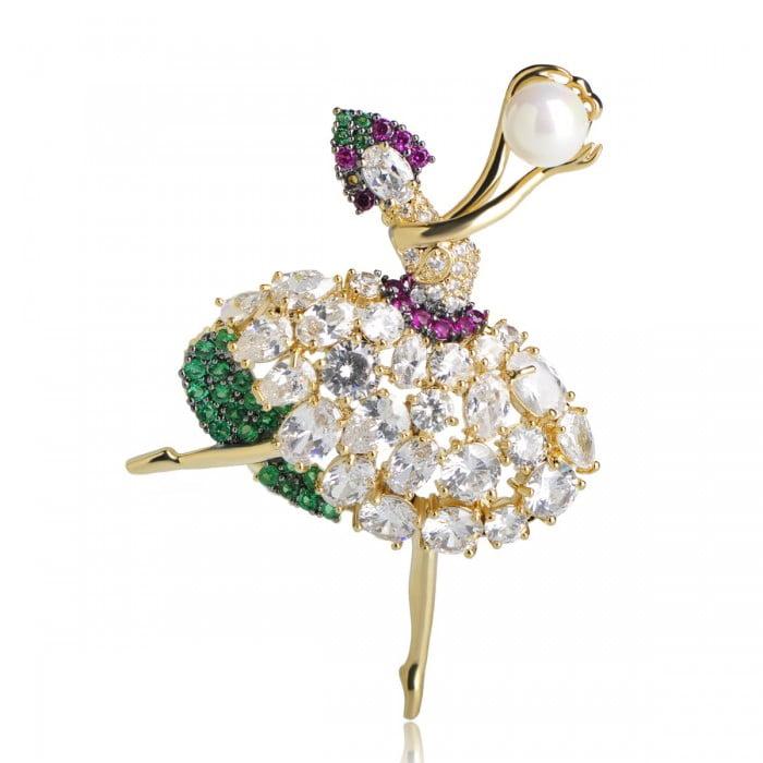 Брошь Изящная балерина