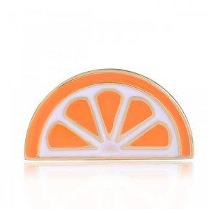 Брошь Долька апельсина