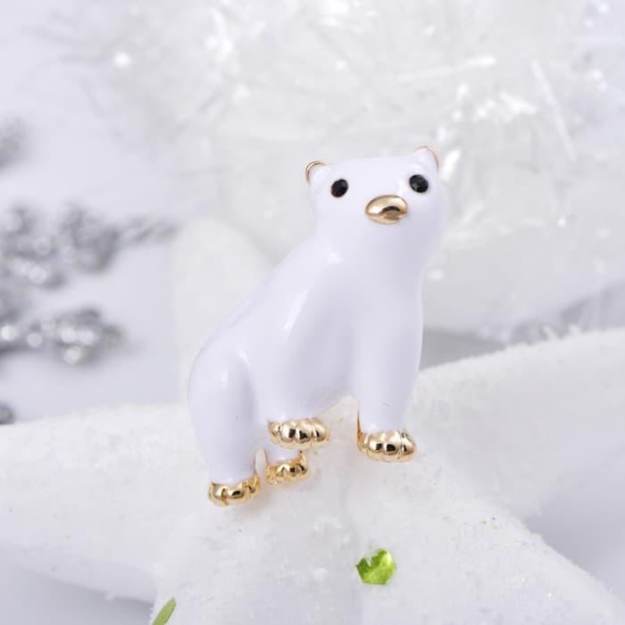 Брошь Полярный медведь