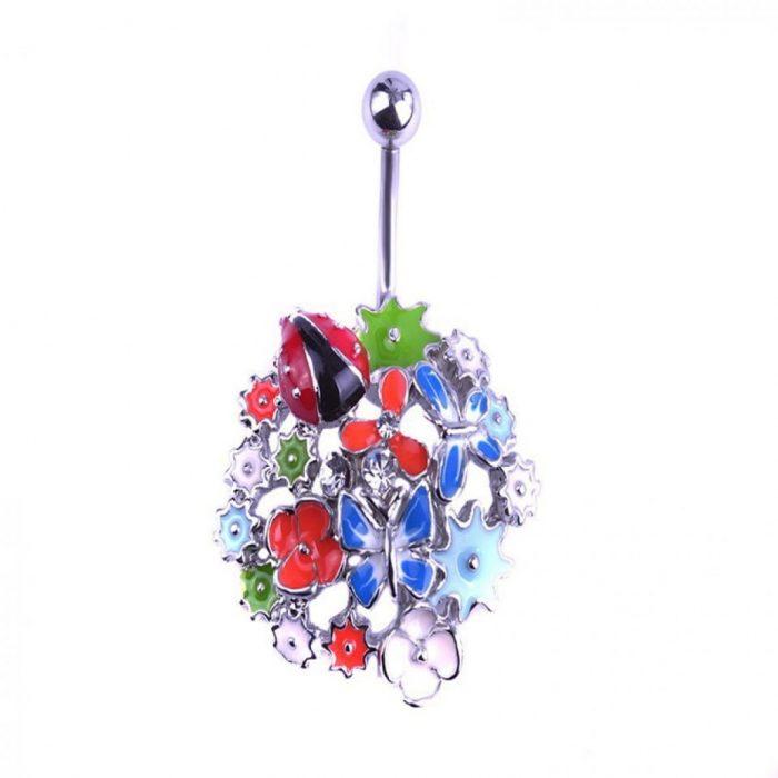 Пирсинг букет цветов