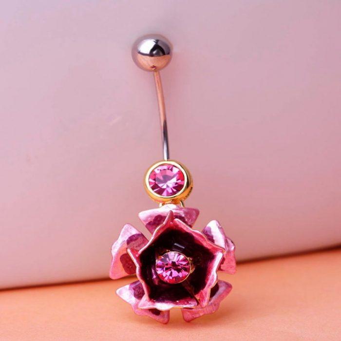Пирсинг роза