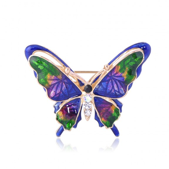 Брошь Бабочка Разноцветная