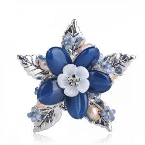 Брошка Синий цветок