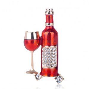 Брошь Красное Вино