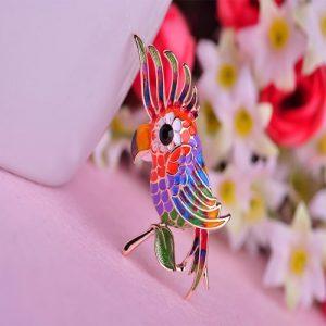 Брошь Красочный Попугай