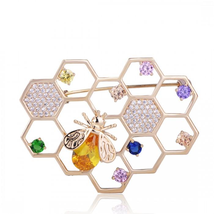 Брошь Пчелиные Соты