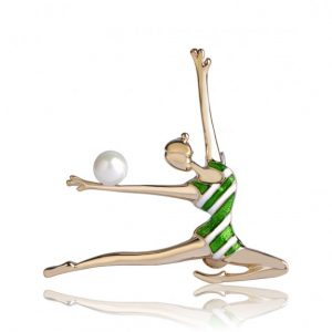 Брошь Танцующая Гимнастка