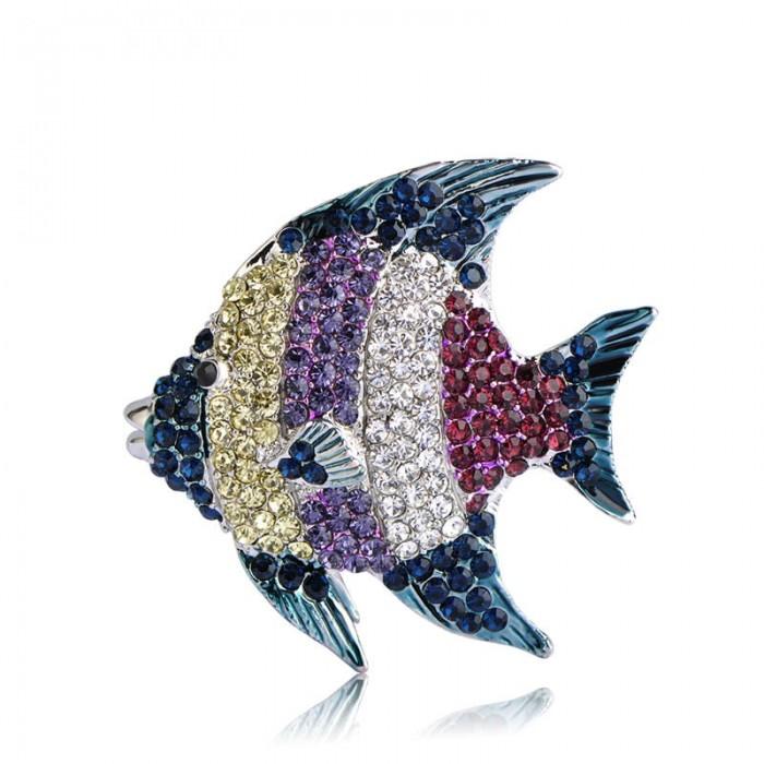 Брошь Рыба Золотая