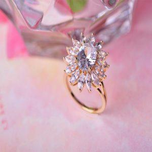 Кольцо Цветок Тиффани