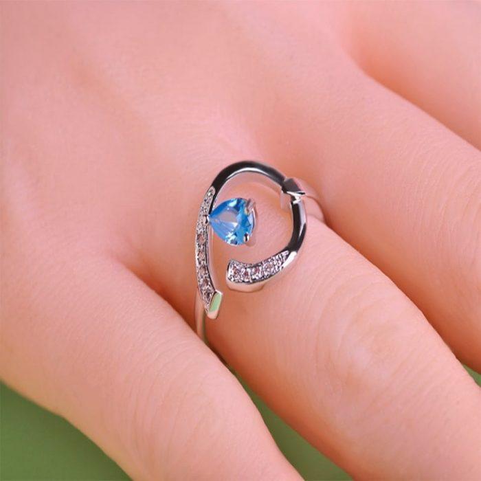 Кольцо Изумрудный цветок