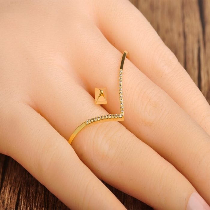 Кольцо на два пальца