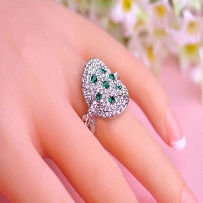 Кольцо Розовый кристалл