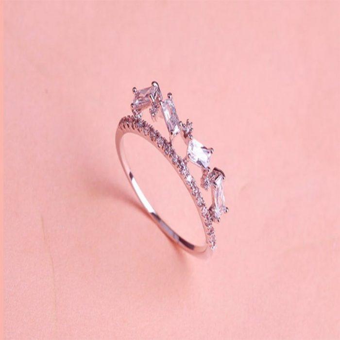 Кольцо с Австрийскими кристаллами Альп