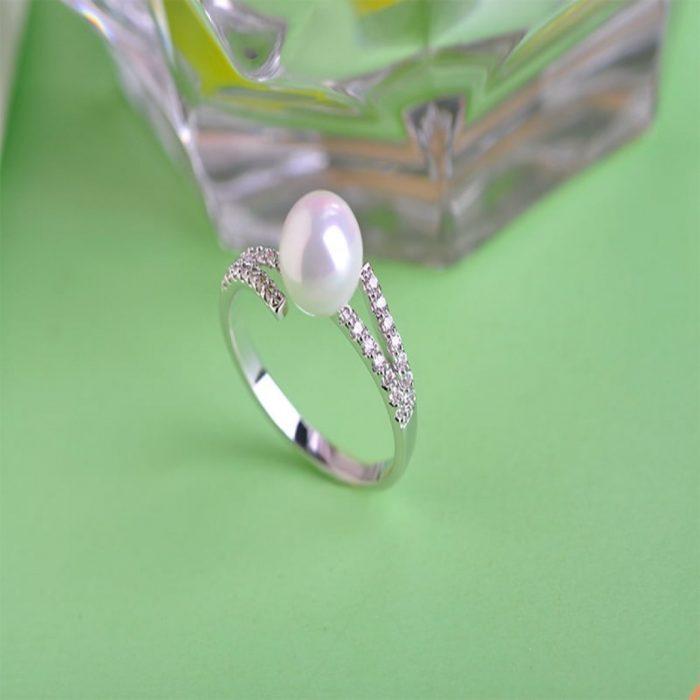 Кольцо с жемчугом Сфера