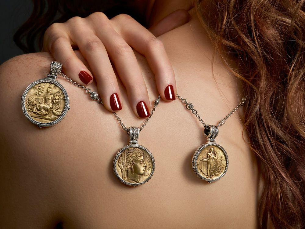 Монетный двор: колье, серьги, браслеты, кольца с монетами