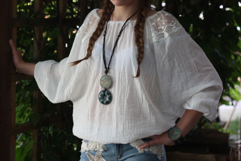 Украшения под блузку свободного кроя или под одежду в этническом стиле