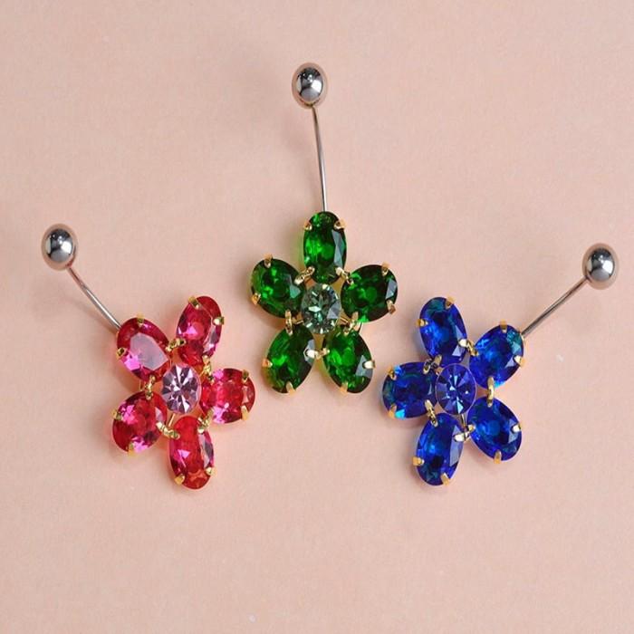 Пирсинг Кристальный цветочек