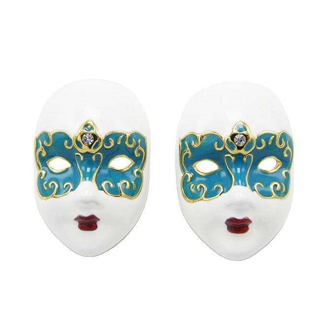 Серьги Венецианская маска
