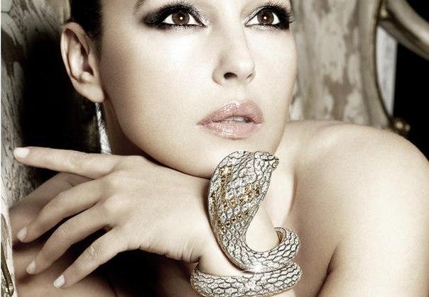 Образ змеи в бижутерии и ювелирном искусстве - Моника Беллуччи