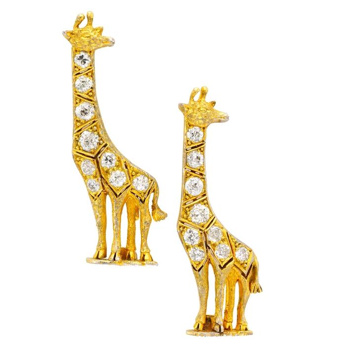 Брошка в виде жирафа - Cartier
