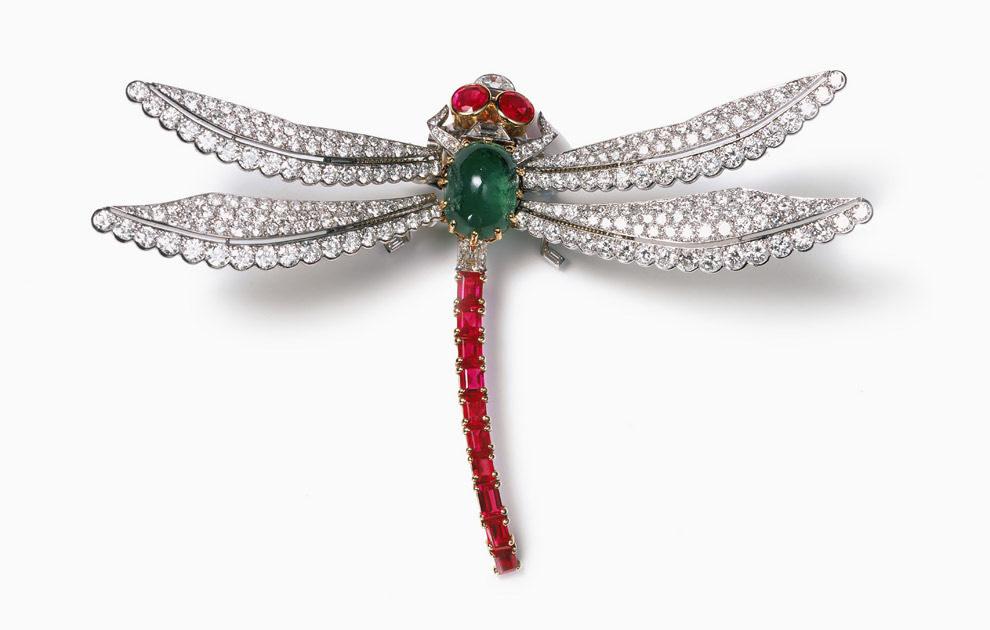 Золотая стрекоза - символ лёгкости - Cartier