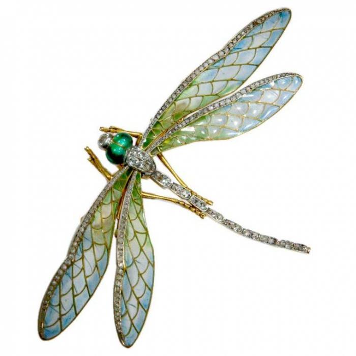 Золотая стрекоза - символ лёгкости - Linda Horn Art Nouveau
