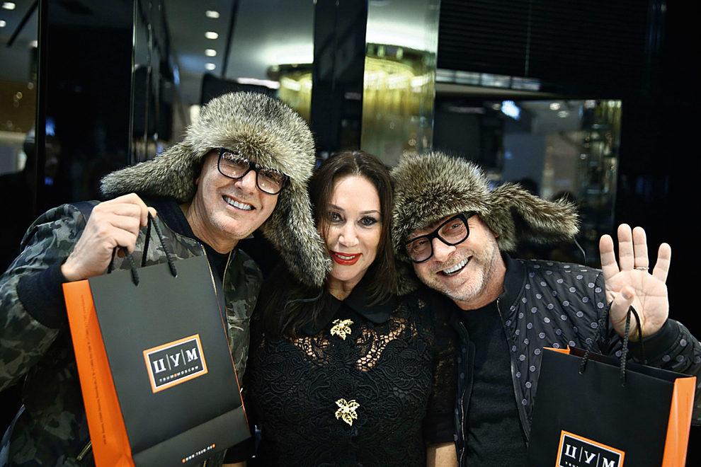 Алла Вербер с Доменико Дольче и Стефано Габбана