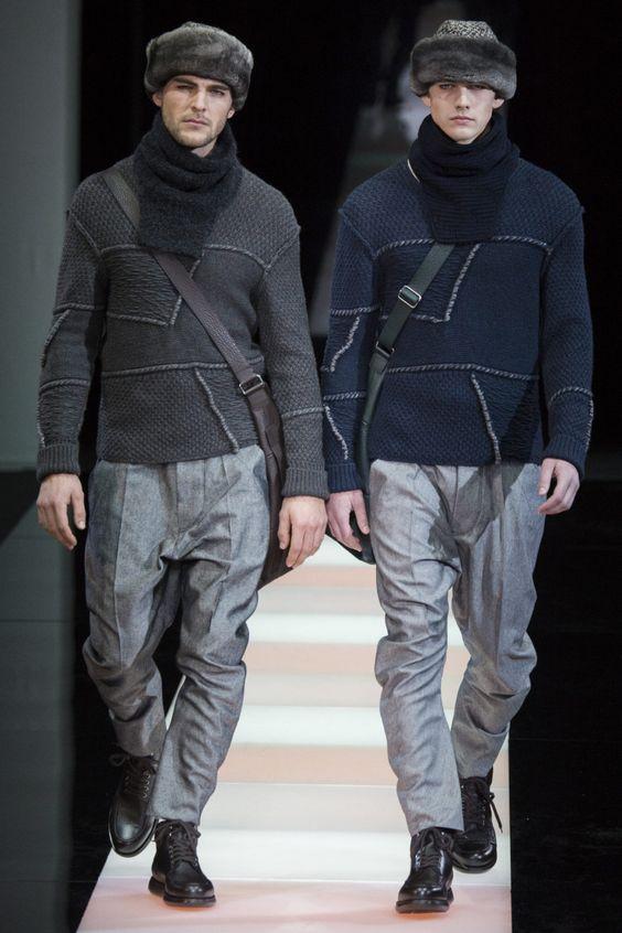 Серые мужские свитера в гардеробе звёзд и на подиумах