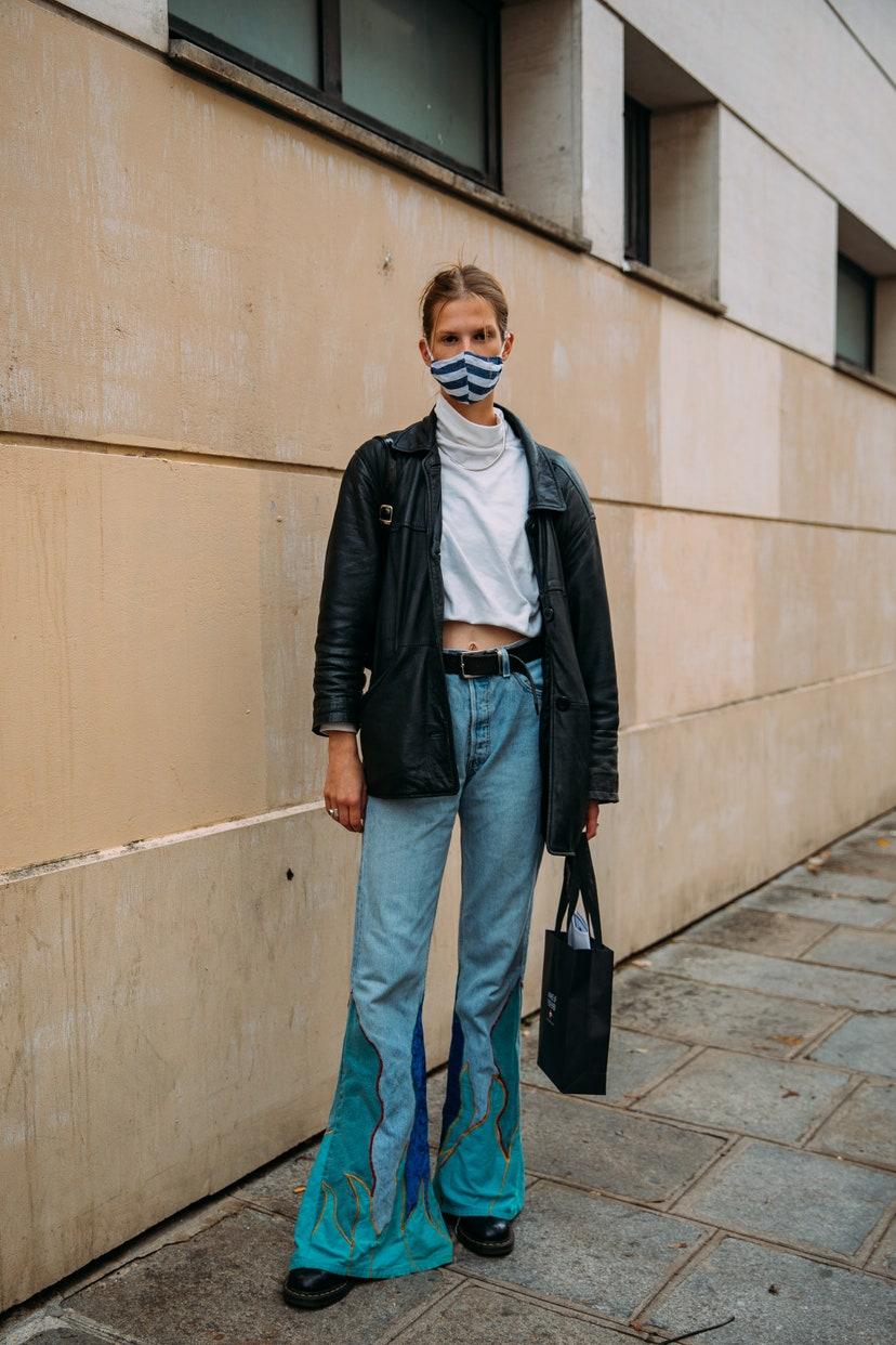 Street Style Fashion брюки клёш