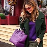 Как выбрать цветную сумку к повседневному образу. Фиолетовые и сиреневые сумки