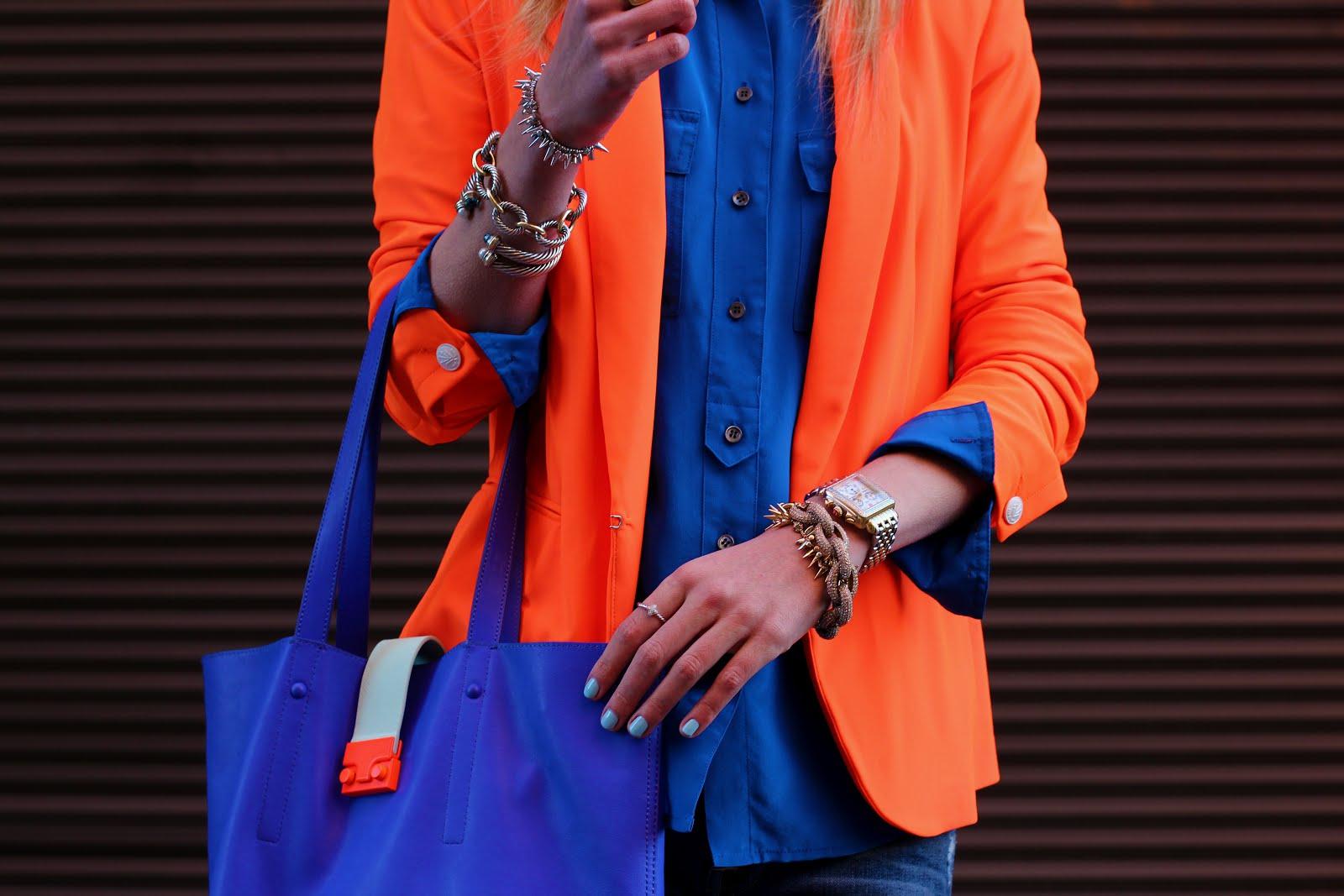 Как выбрать цветную сумку к повседневному образу. Синие сумки