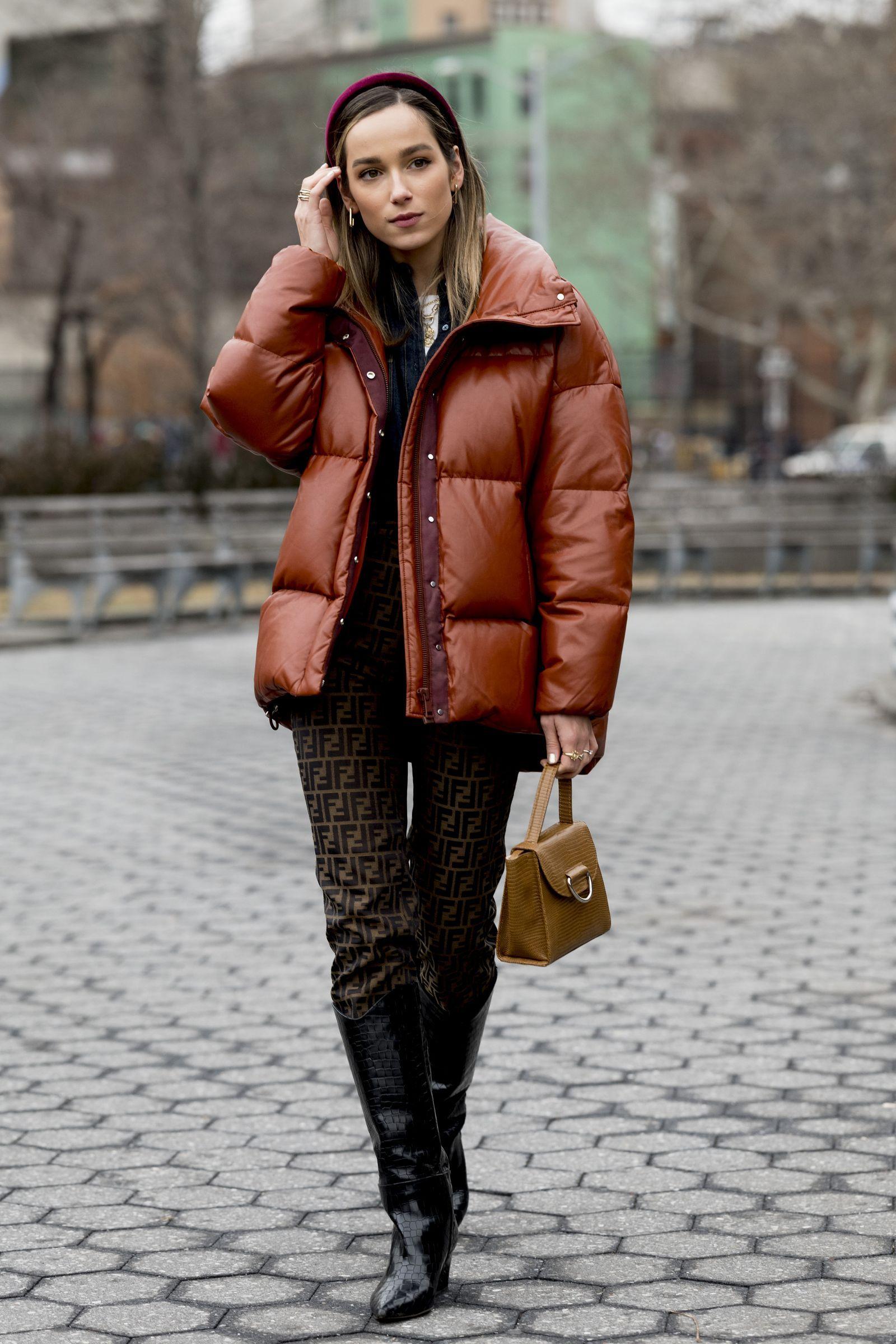 Куртки сезона осень-зима 2020/2021. Кожаный пуховик