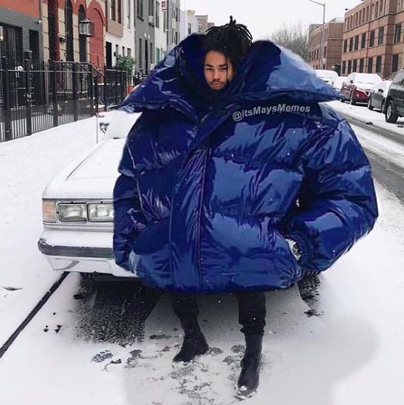 огромная куртка
