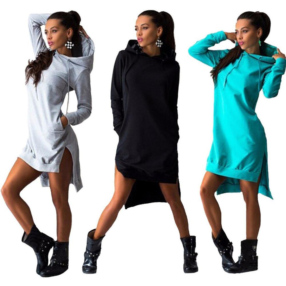 Платья худи (толстовки, свитшоты, свитера, оверсайз)
