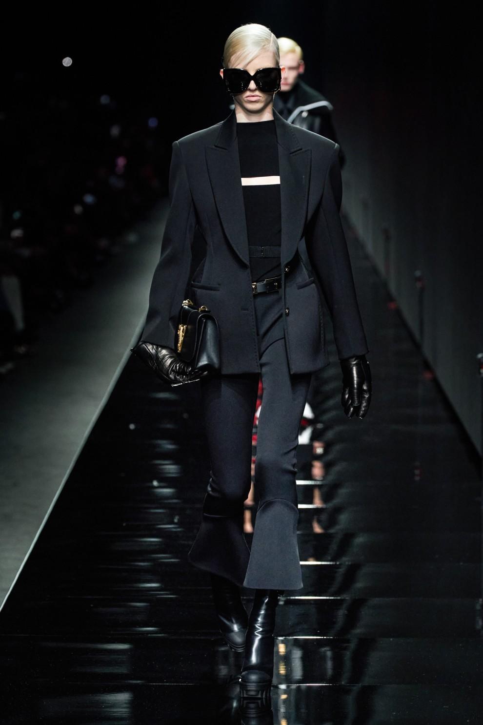 Versace - укороченные брюки клёш