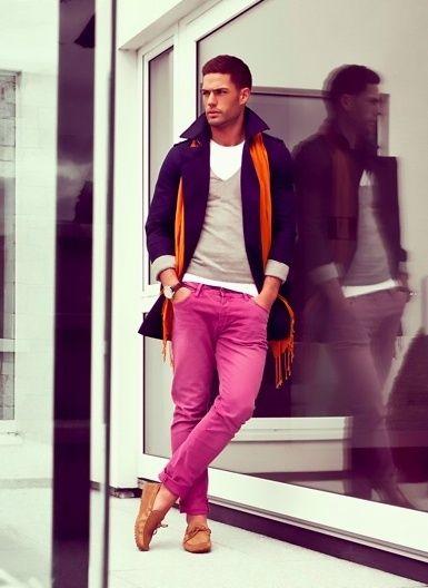 мужчины в розовом