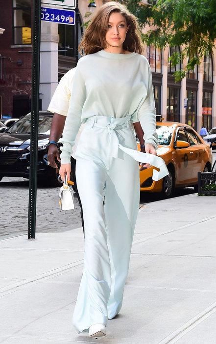 Джиджи Хадид в Брюках-палаццо - женственных и элегантных