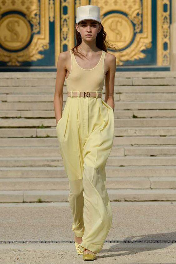 Брюки-палаццо - женственные и элегантные. Nina Ricci