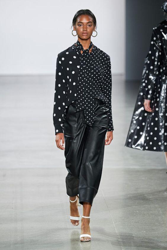 Кожаные брюки - снова в тренде. Elie Tahari