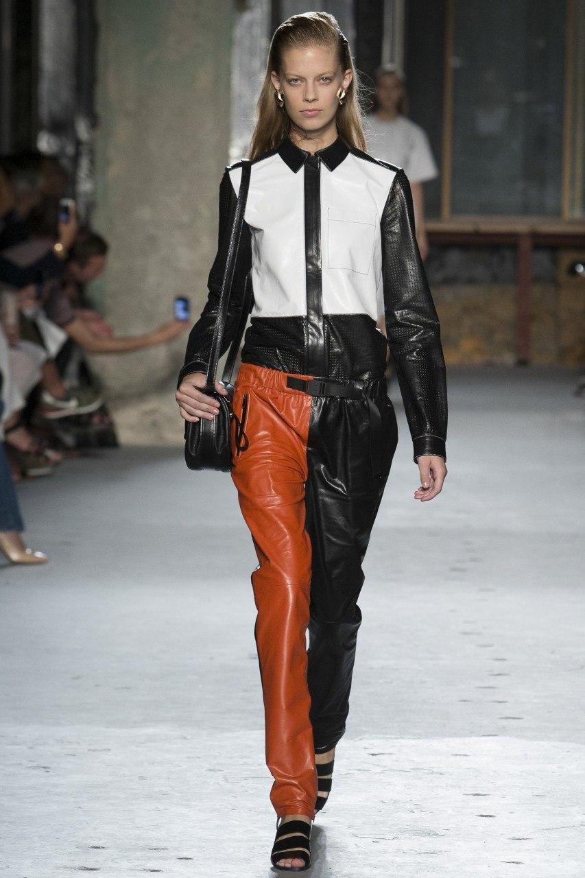 Кожаные брюки - снова в тренде. Proenza Schouler