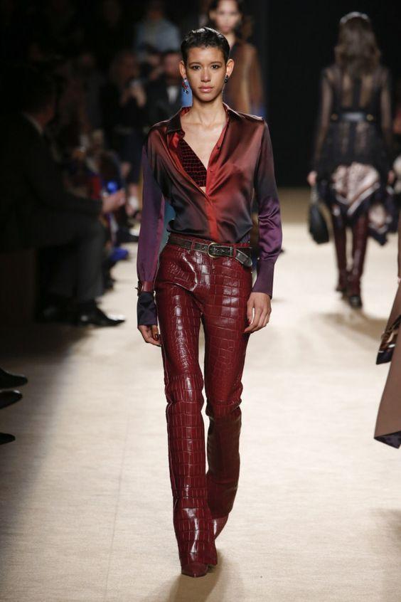 Кожаные брюки - снова в тренде. Roberto Cavalli