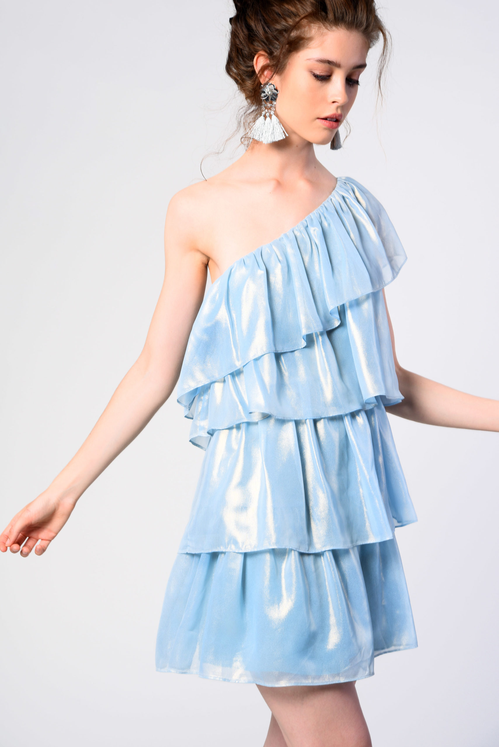 Платья металлик