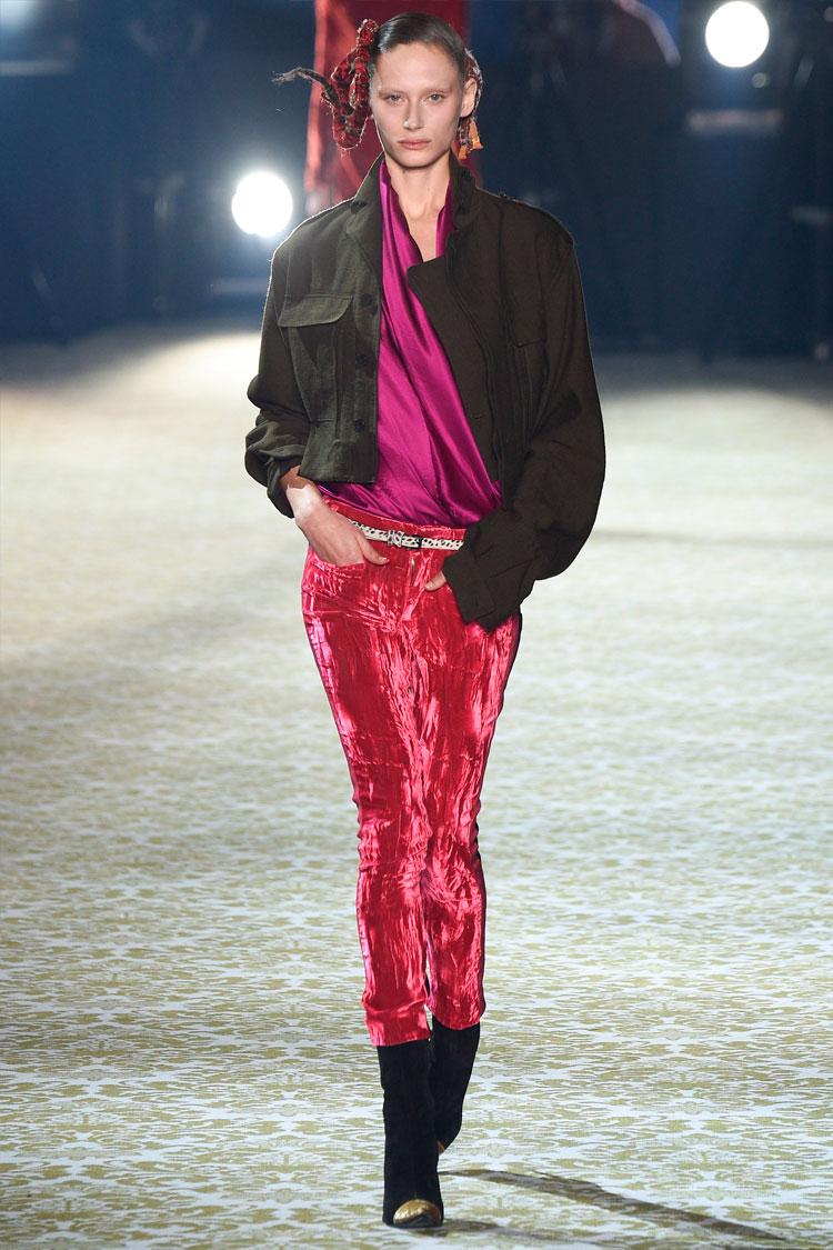 Трендовые бархатные брюки. Haider Ackermann