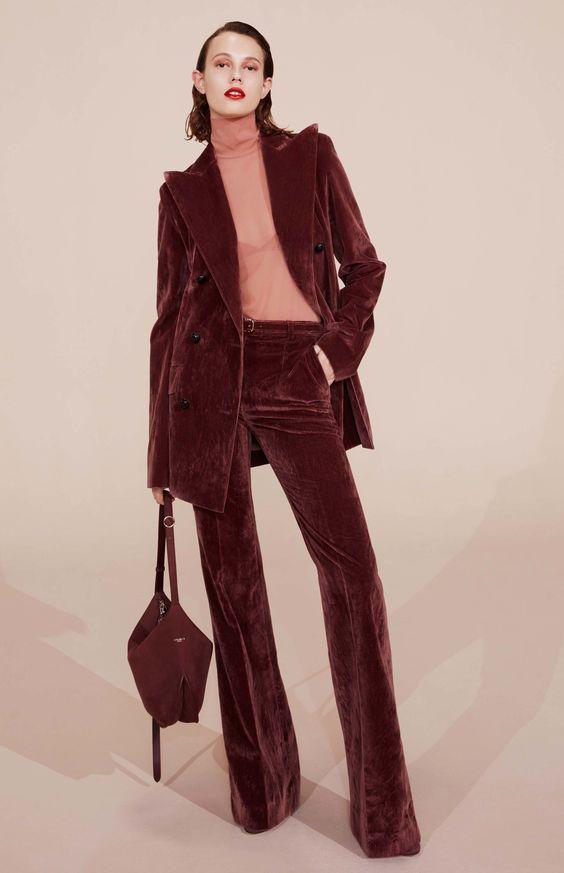 Трендовые бархатные брюки. Nina Ricci