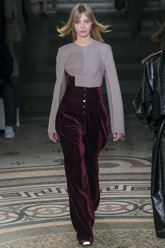 Трендовые бархатные брюки. Stella McCartney