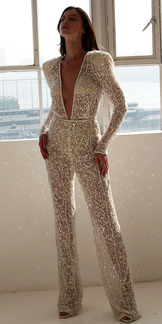 Во всём блеске. Шик, блеск, красота... Брюки с блестящим декором модный вариант для современной свадьбы