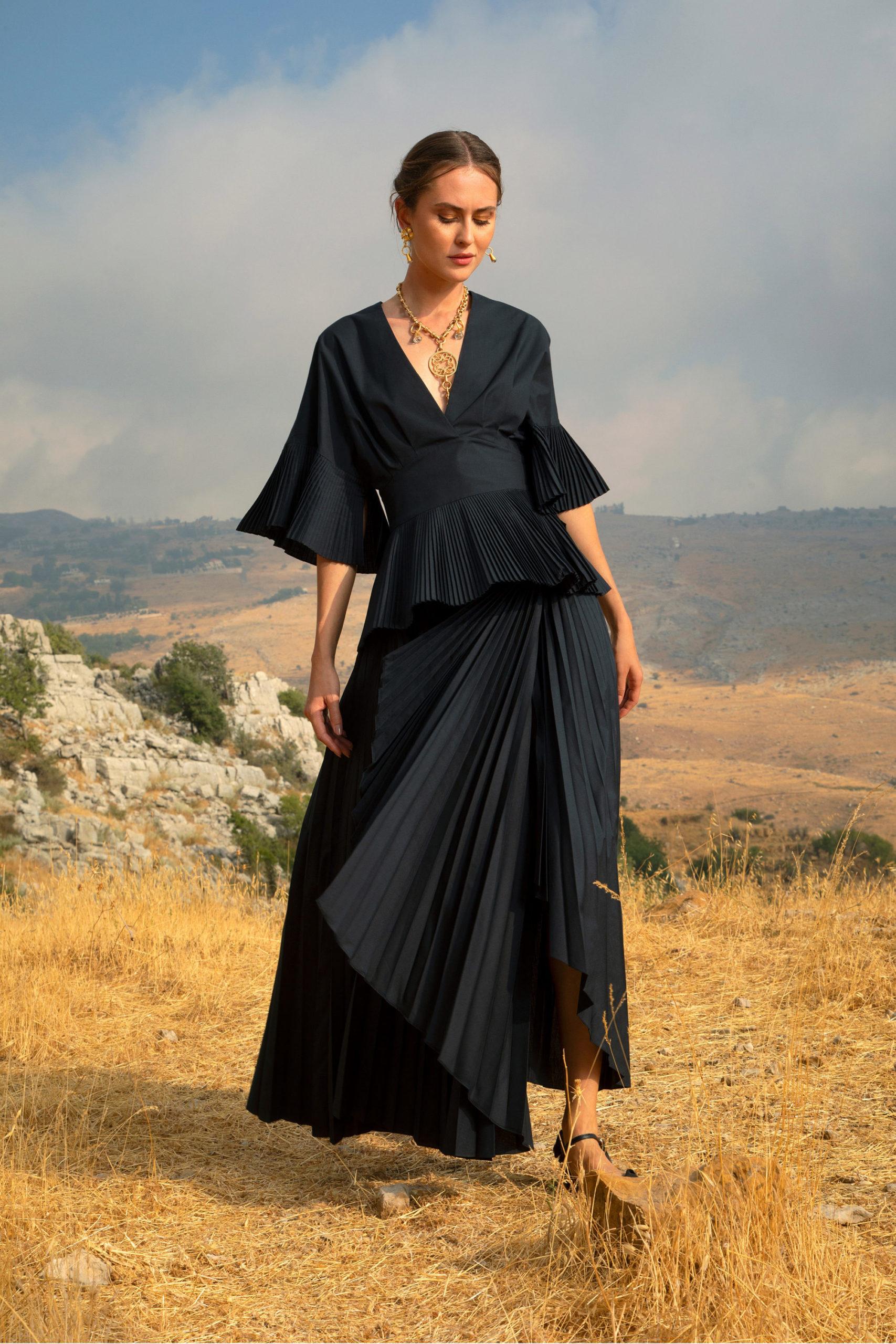 Платье с баской от Elie Saab