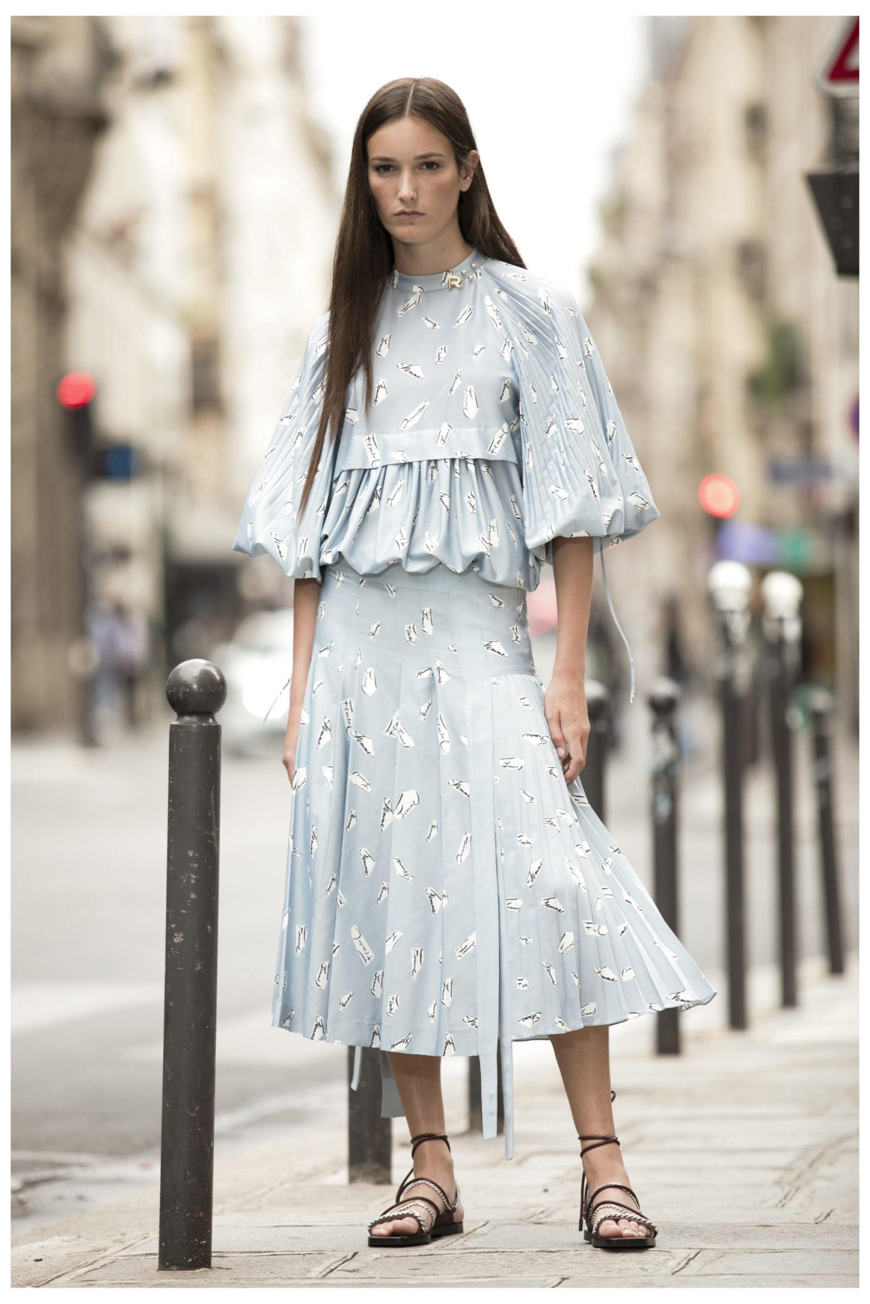 Платье с баской от Rochas