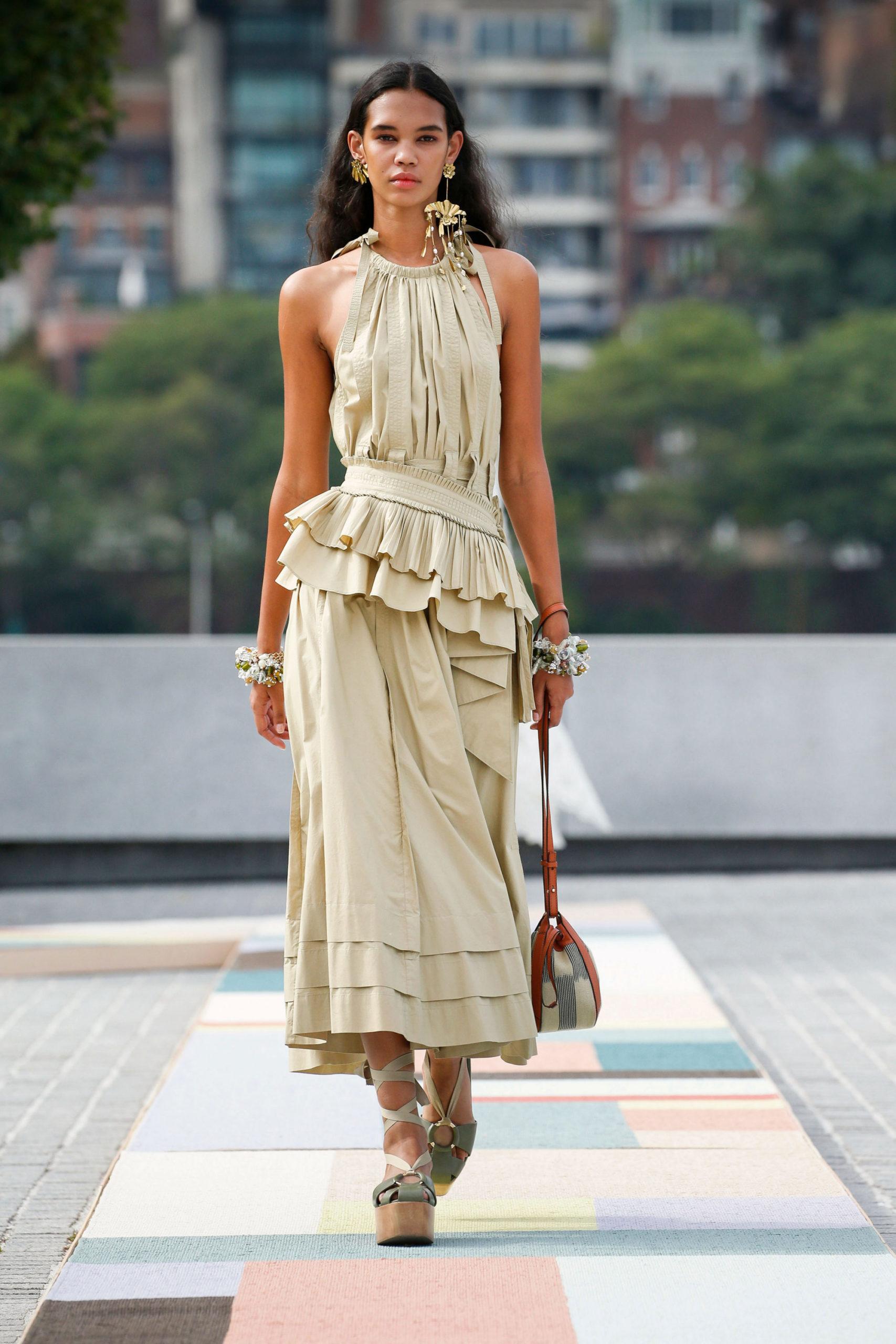 Платье с баской от Ulla Johnson