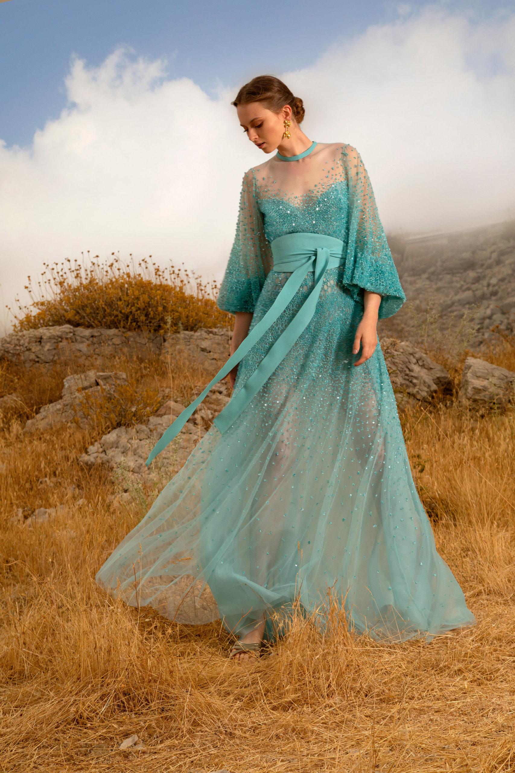 Платье с расклешённой статичной юбкой, платье выпускницы от Elie Saab